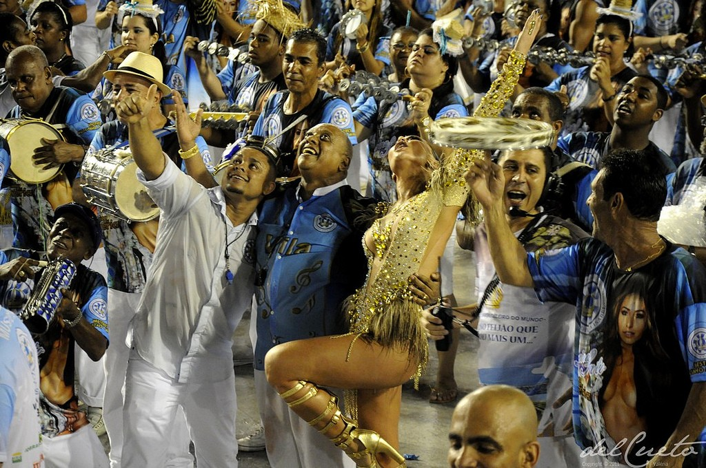 Vila Isabel Samba School Drummers and their Queen Sabrina Sato