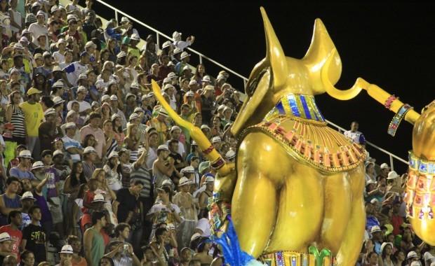 Crowded Grandstand at Samba Parade