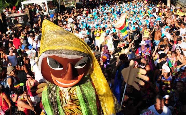 Carmelitas street party in Rio Brazil during carnival