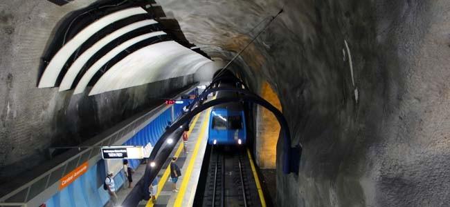 Metro station in Rio de Janeiro Brazil