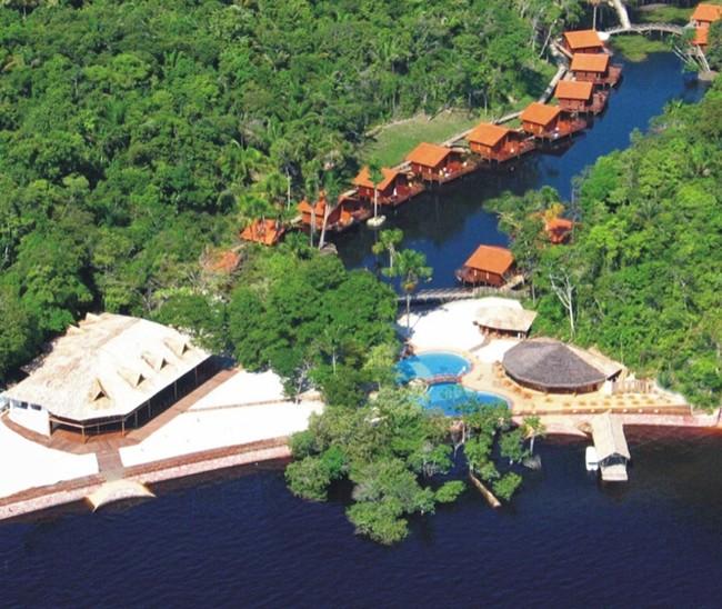 Tiwa Amazonas Ecoresort Hotel in Manaus Jungle - aereal view