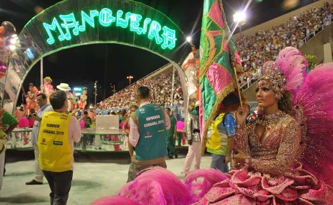 Mangueira Samba School during the Rio carnival parade