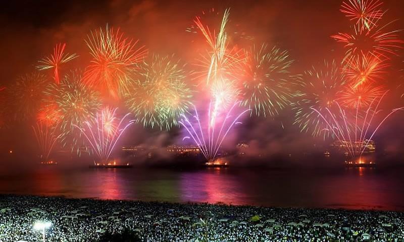 New Year's Firework Show at Copacabana Beach