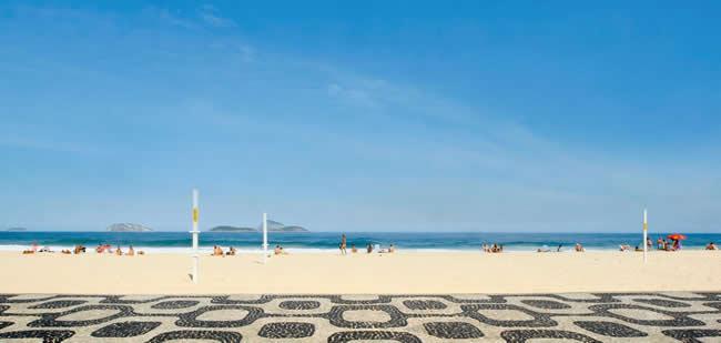 Copacabana Beach sidewalk, Rio de Janeiro, Brazil