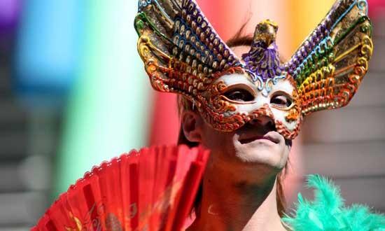 Street gay party Rio de Janeiro Brazil