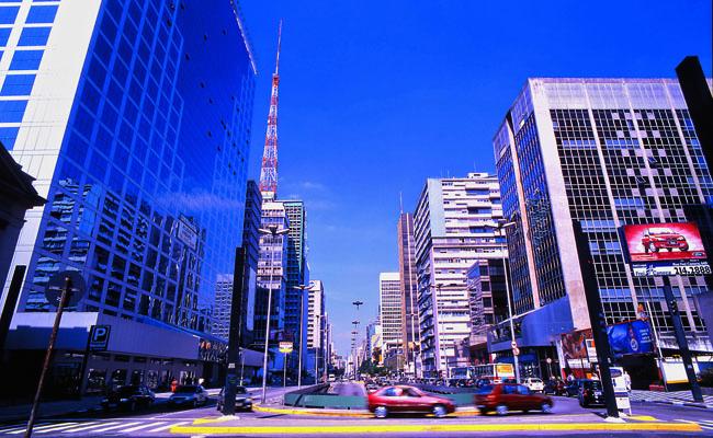 Avenida Paulista in Sao Paulo Brazil