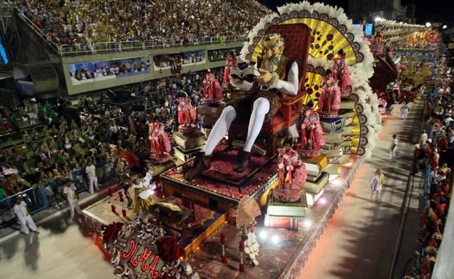 Uniao da Ilha Samba school, carnival parade Rio de Janeiro